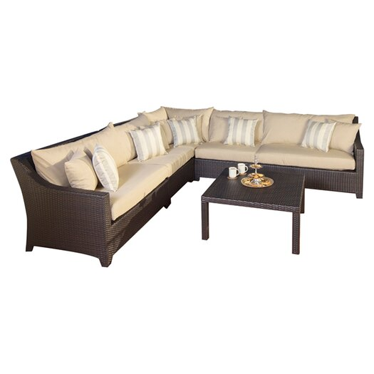 RST Outdoor Slate 6 Piece Deep Seating Group with Cushions