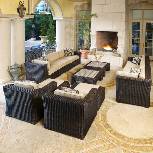 RST Outdoor Resort 12 Piece Deep Seating Group with Cushions
