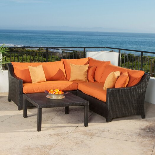 RST Brands Tikka Deco 4 Piece Deep Seating Group with Cushions