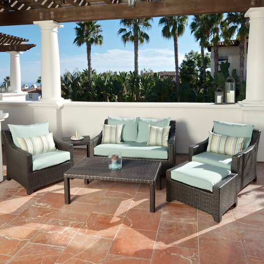 RST Brands Bliss Deco 6 Piece Deep Seating Group with Cushions