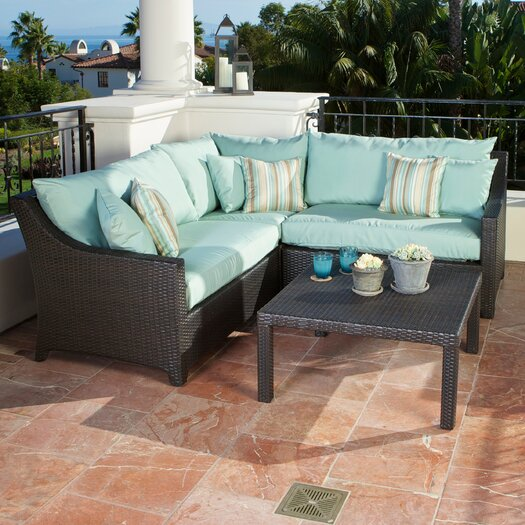 RST Brands Bliss Deco 4 Piece Deep Seating Group with Cushions