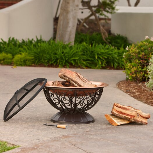 RST Brands Copper Fire Bowl with Cover