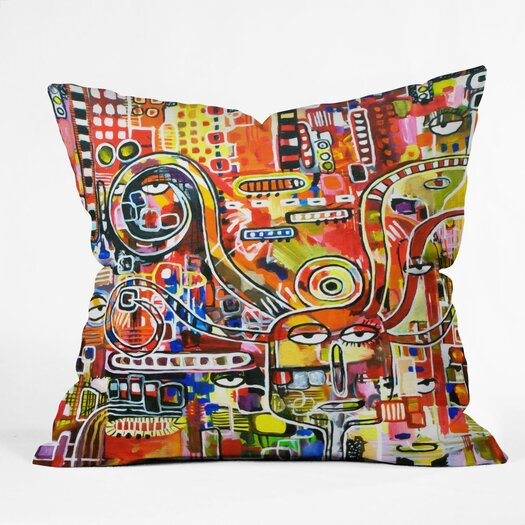 DENY Designs Robin Faye Gates It Came from Detroit Polyester Throw Pillow