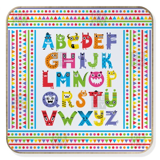 DENY Designs Andi Bird Alphabet Monsters Jewelry Box