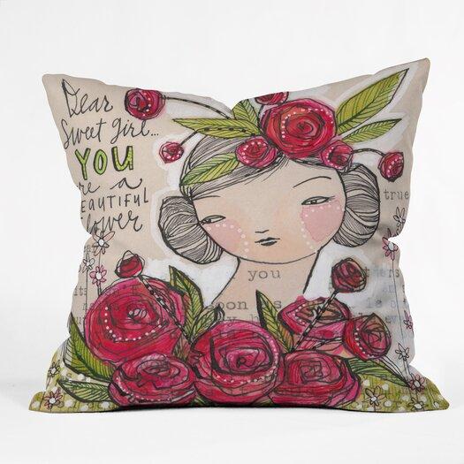 DENY Designs Cori Dantini Dear Sweet Girl Indoor / Outdoor Polyester Throw Pillow