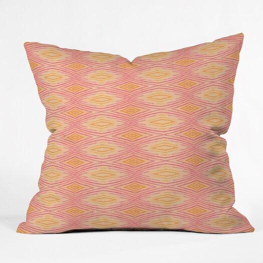 DENY Designs Cori Dantini Orange Ikat 4 Polyester Throw Pillow