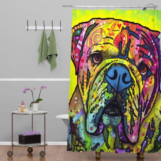DENY Designs Dean Russo Hey Bulldog Shower Curtain