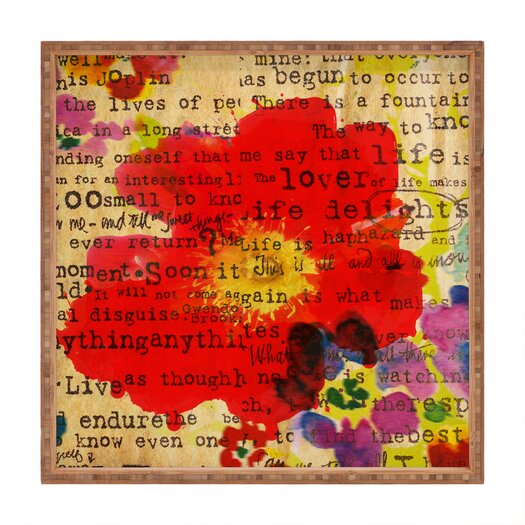 DENY Designs Irena Orlov Poppy Poetry 2 Square Tray