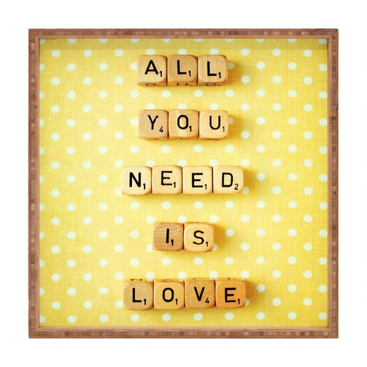 DENY Designs Happee Monkee All You Need Is Love 1 Square Tray