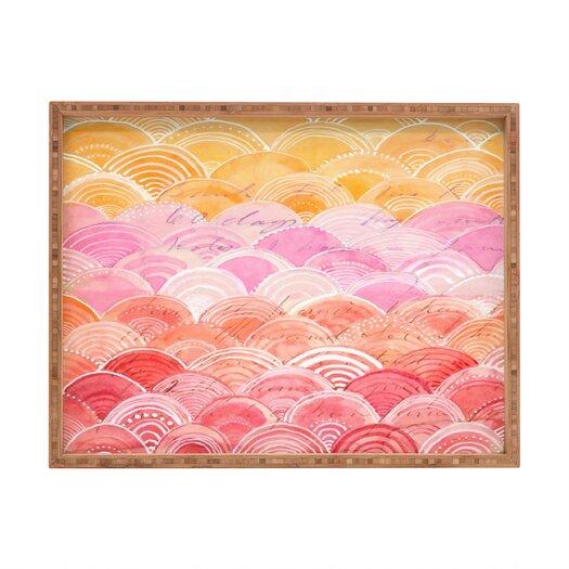 DENY Designs Cori Dantini Warm Spectrum Rainbow Rectangular Tray