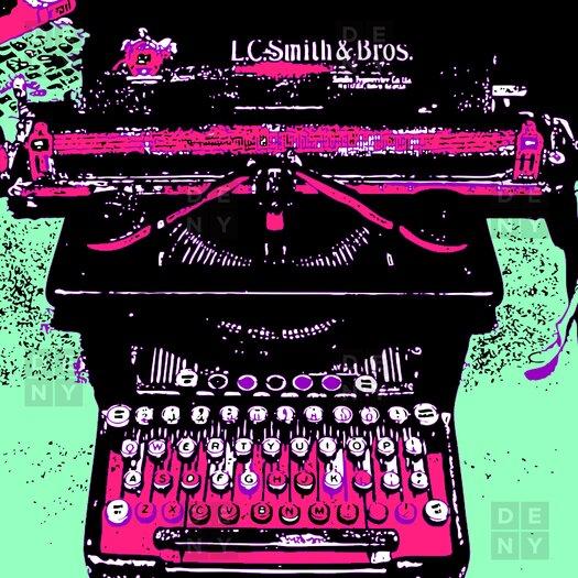 DENY Designs Romi Vega Polyester Antique Typewriter Shower Curtain