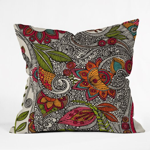 DENY Designs Valentina Ramos Random Flowers Polyester Throw Pillow