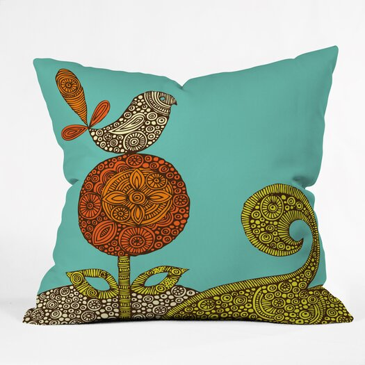 DENY Designs Valentina Ramos Bird in The Flower Indoor/Outdoor Polyester Throw Pillow