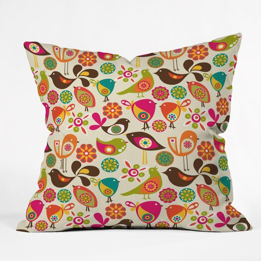 DENY Designs Valentina Ramos Little Birds Indoor/Outdoor Polyester Throw Pillow
