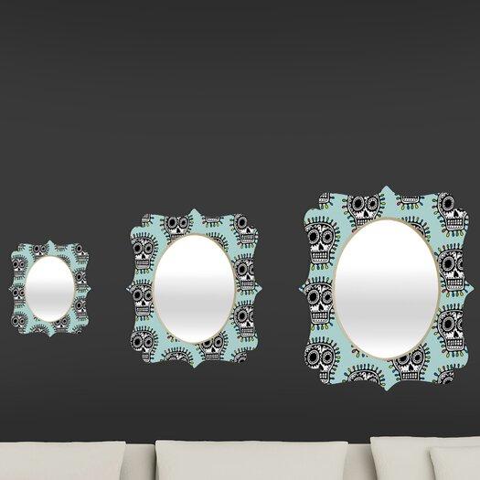 DENY Designs Andi Bird Sugar Skull Fun Quatrefoil Mirror
