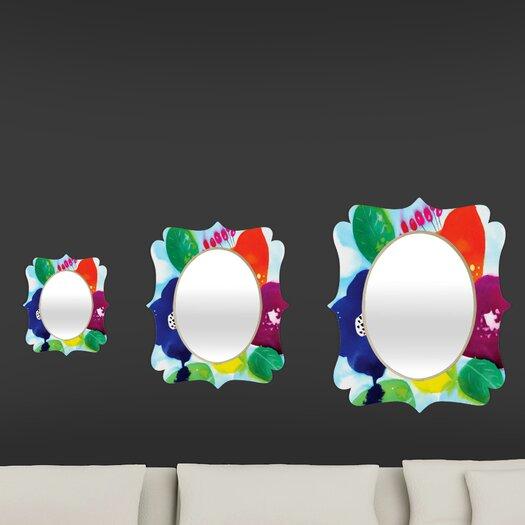 DENY Designs CayenaBlanca Big Flowers Quatrefoil Mirror