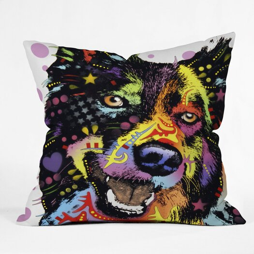 DENY Designs Dean Russo Border Collie Throw Pillow