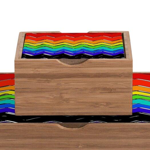 DENY Designs Sharon Turner Rainbow Chevron Box