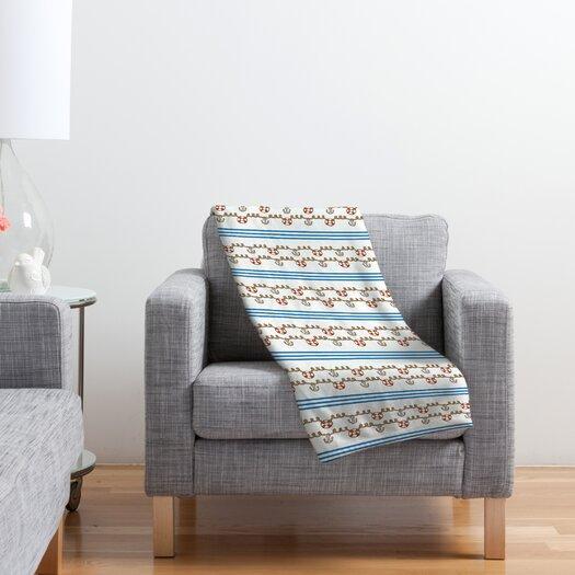 DENY Designs Jennifer Denty Anchor Small Polyester Fleece Throw Blanket