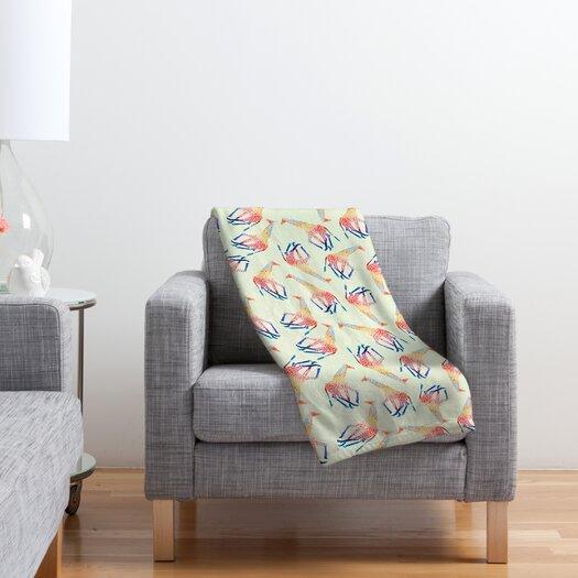 DENY Designs Jacqueline Maldonado Watercolor Giraffe Polyester Fleece Throw Blanket