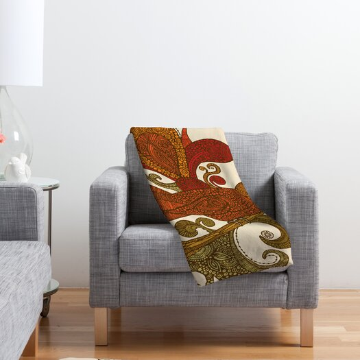 DENY Designs Valentina Ramos The Orange Bird Polyester Fleece Throw Blanket