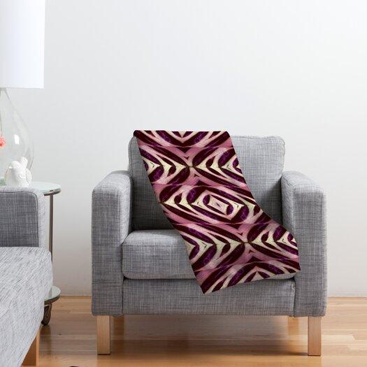 DENY Designs Wagner Campelo Calathea Polyester Fleece Throw Blanket