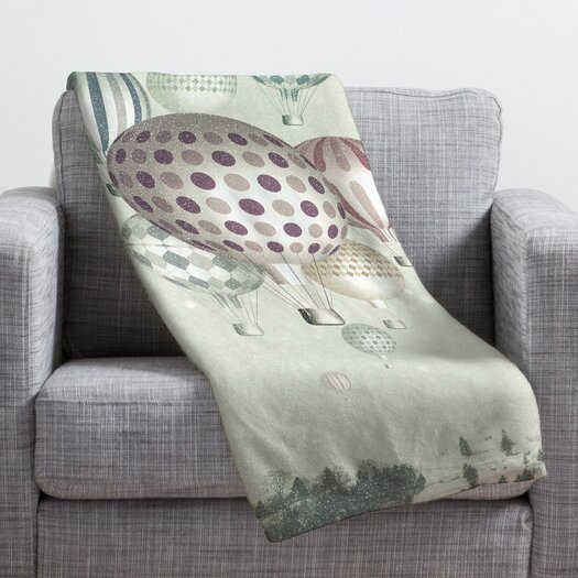 DENY Designs Belle13 Winter Dreamflight Polyester Fleece Throw Blanket