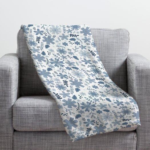 DENY Designs Jennifer Denty Genevieve Big Polyester Fleece Throw Blanket