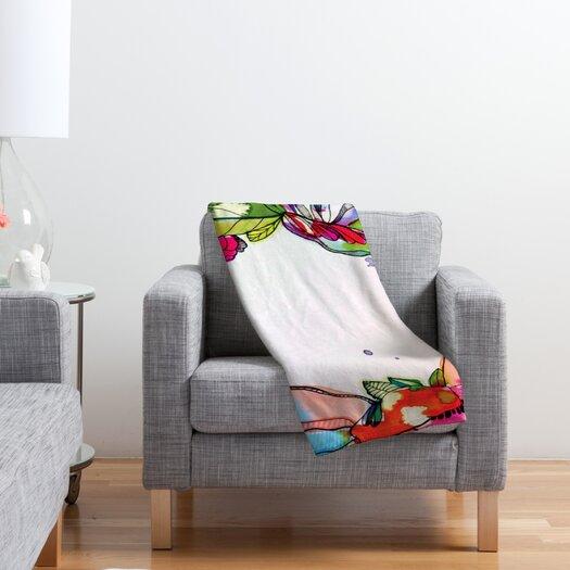 DENY Designs CayenaBlanca Floral Frame Polyester Fleece Throw Blanket