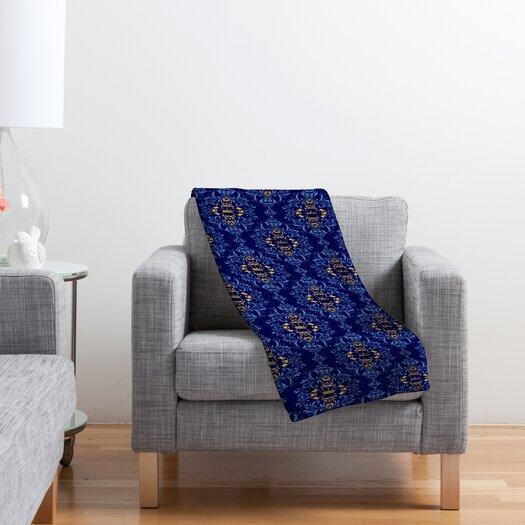 DENY Designs Belle13 Royal Damask Pattern Polyester Fleece Throw Blanket