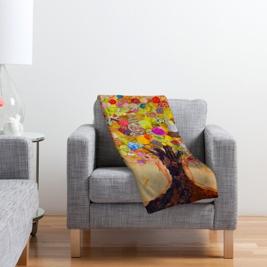 DENY Designs Elizabeth St Hilaire Nelson Summer Tree Polyester Fleece Throw Blanket