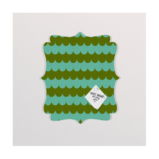 DENY Designs Holli Zollinger Waves of Color Quatrefoil Memo Board