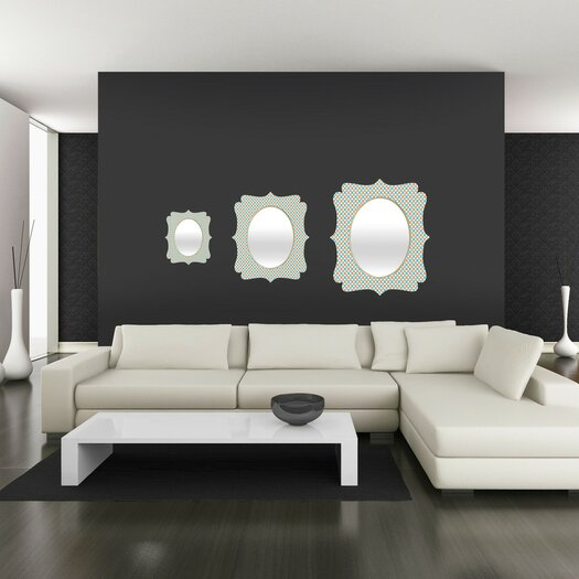 DENY Designs Tammie Bennett X Check Wall Mirror