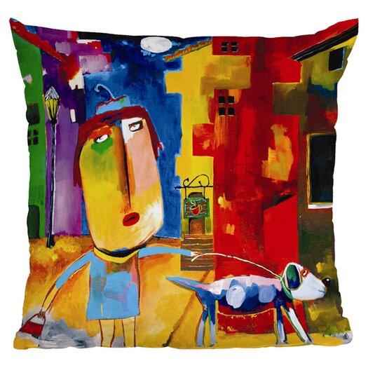 DENY Designs Robin Faye Gates Sylvia Needs Eggs Polyester Throw Pillow
