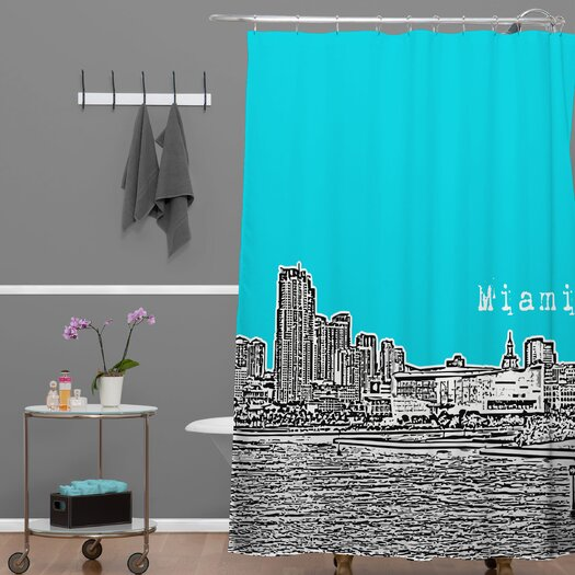 DENY Designs Bird Ave Woven Polyester Miami Shower Curtain