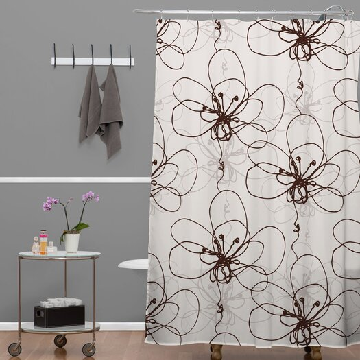 DENY Designs Rachael Taylor Polyester Tonal Floral Shower Curtain