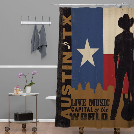 DENY Designs Anderson Design Group Woven Polyester Austin Shower Curtain