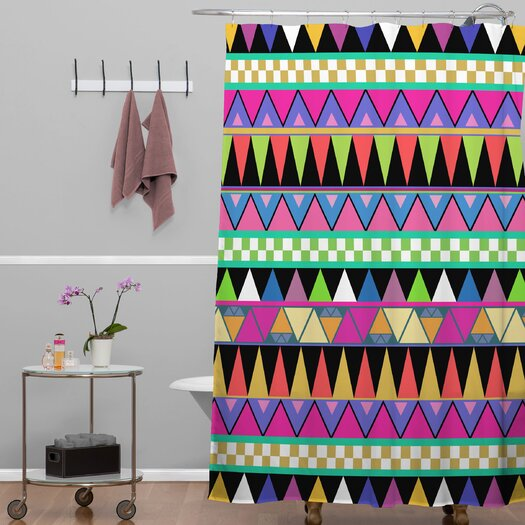 DENY Designs Bianca Woven Polyester Zigzag Shower Curtain