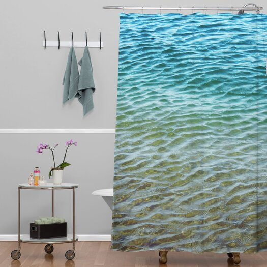 DENY Designs Shannon Clark Ombre Sea Woven Polyesterr Shower Curtain