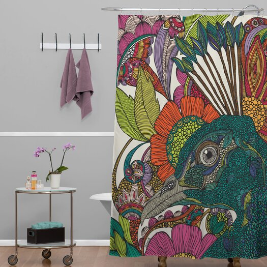 DENY Designs Valentina Ramos Polyester Alexis and The Flowers Shower Curtain