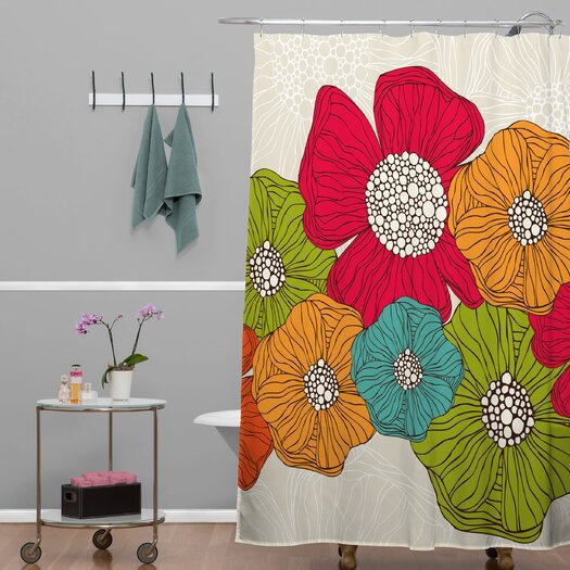 DENY Designs Valentina Ramos Polyester Flowers Shower Curtain