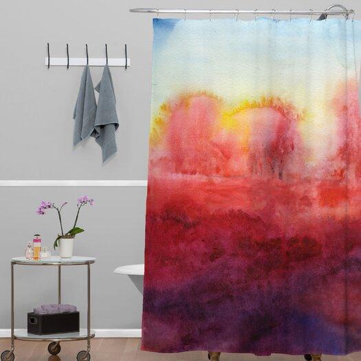 DENY Designs Jacqueline Maldonado Woven Polyester Where I End Shower Curtain