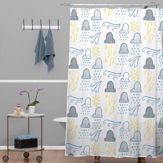 DENY Designs Jennifer Denty Woven Polyester Clouds Shower Curtain