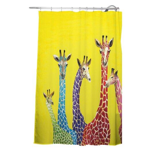 DENY Designs Clara Nilles Jellybean Giraffes Shower Curtain