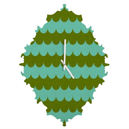 DENY Designs Holli Zollinger Waves of Color Wall Clock