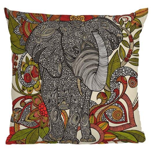 DENY Designs Valentina Ramos Bo The Elephant Polyester Throw Pillow