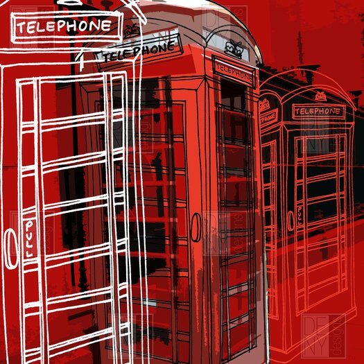 DENY Designs Aimee St Hill Phone Box Polyester Shower Curtain