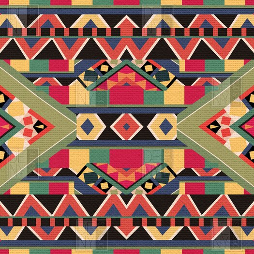 DENY Designs Bianca Green Bold Woven Polyester Throw Pillow