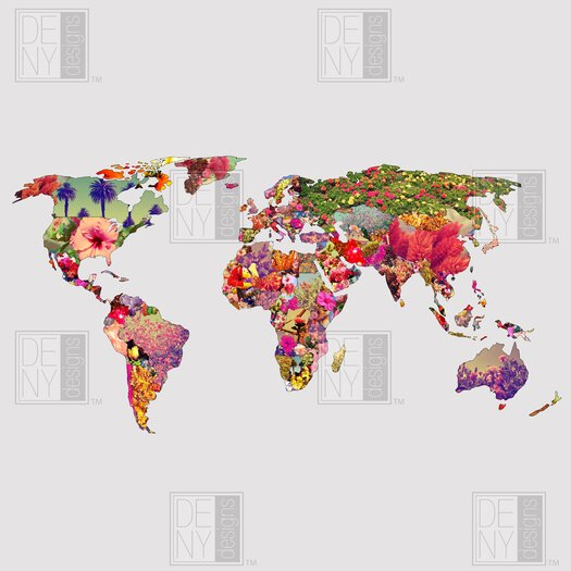DENY Designs Bianca Woven Polyester Its Your World Shower Curtain