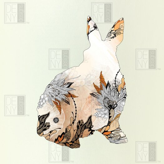 DENY Designs Iveta Abolina Polyester Little Rabbit Shower Curtain